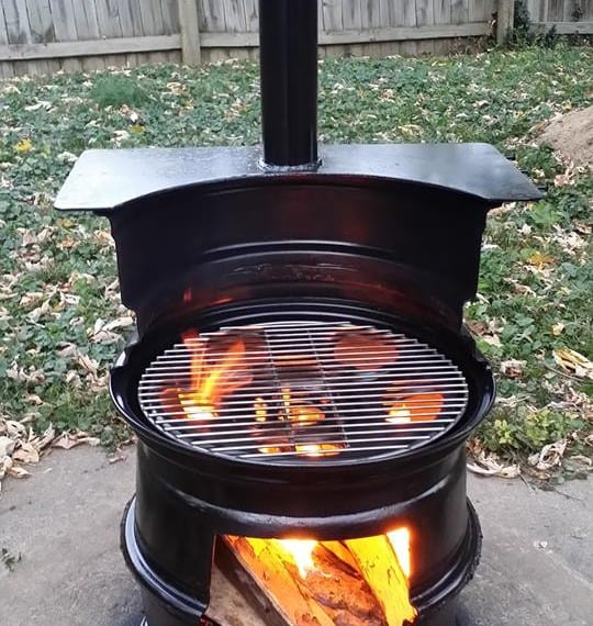 Wood Burning Grill