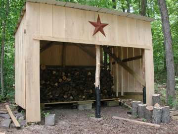 Large Three-Sided Shed