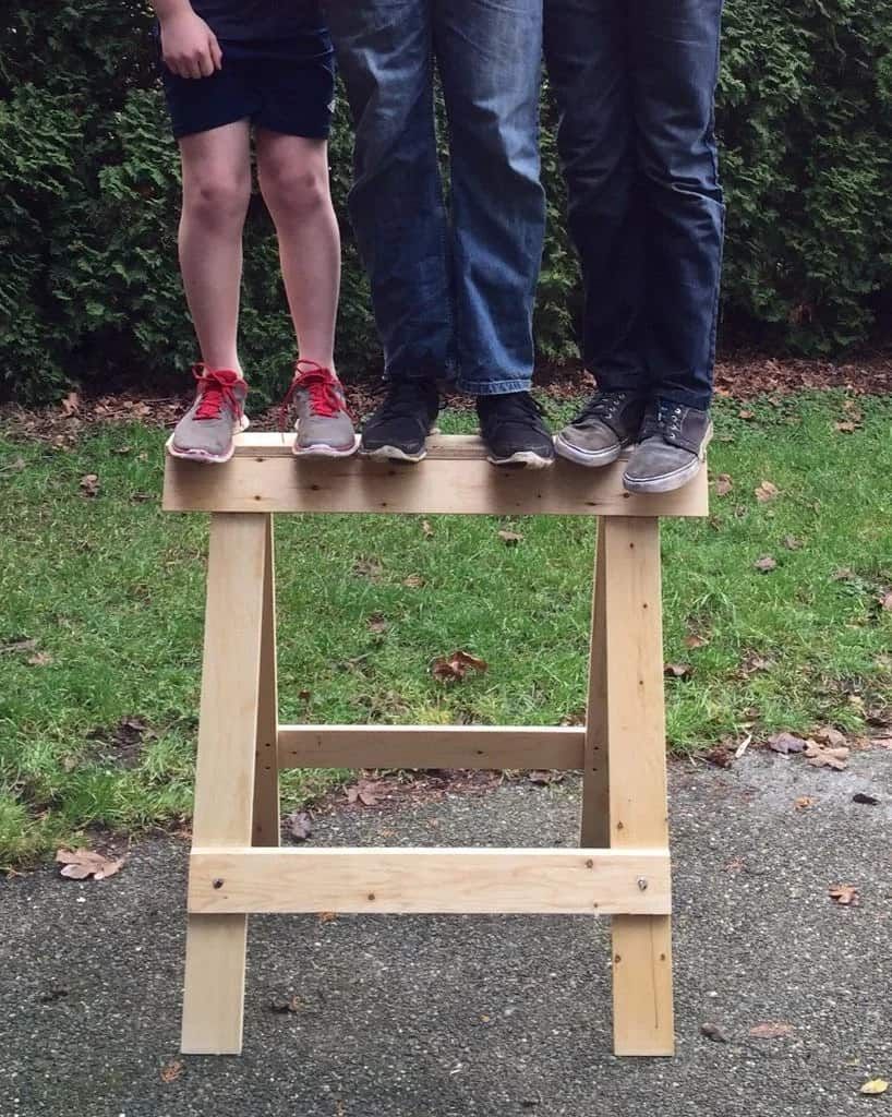 Strong Folding Plywood Sawhorses