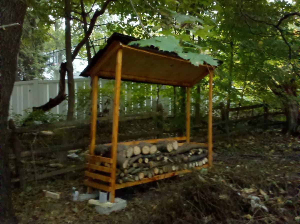 Easy Firewood Shed