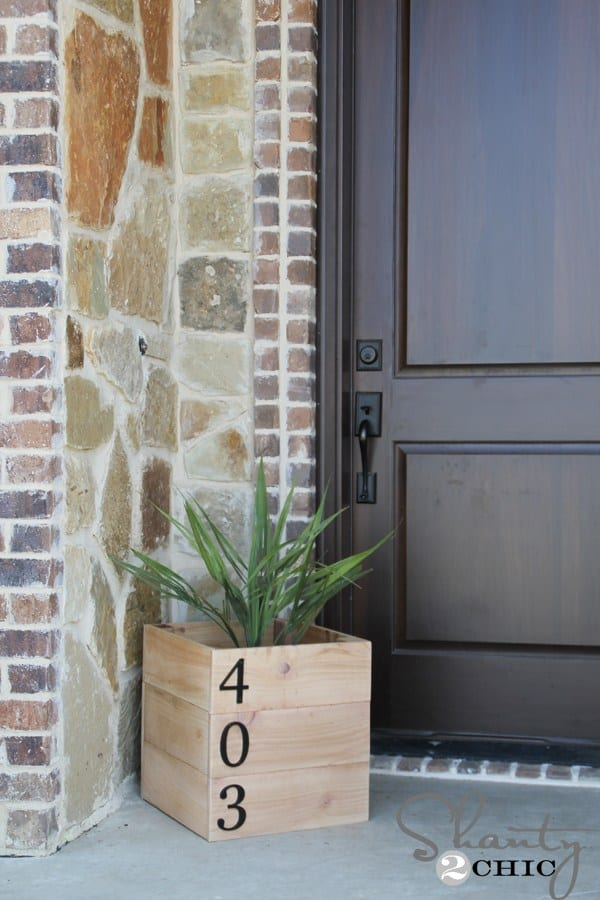Address Planter Box