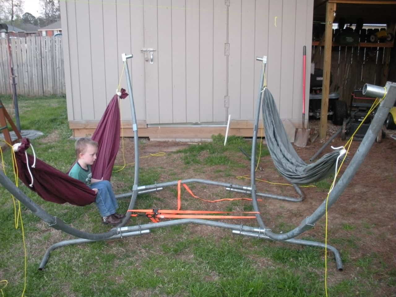 Double Hammock Metal Stand