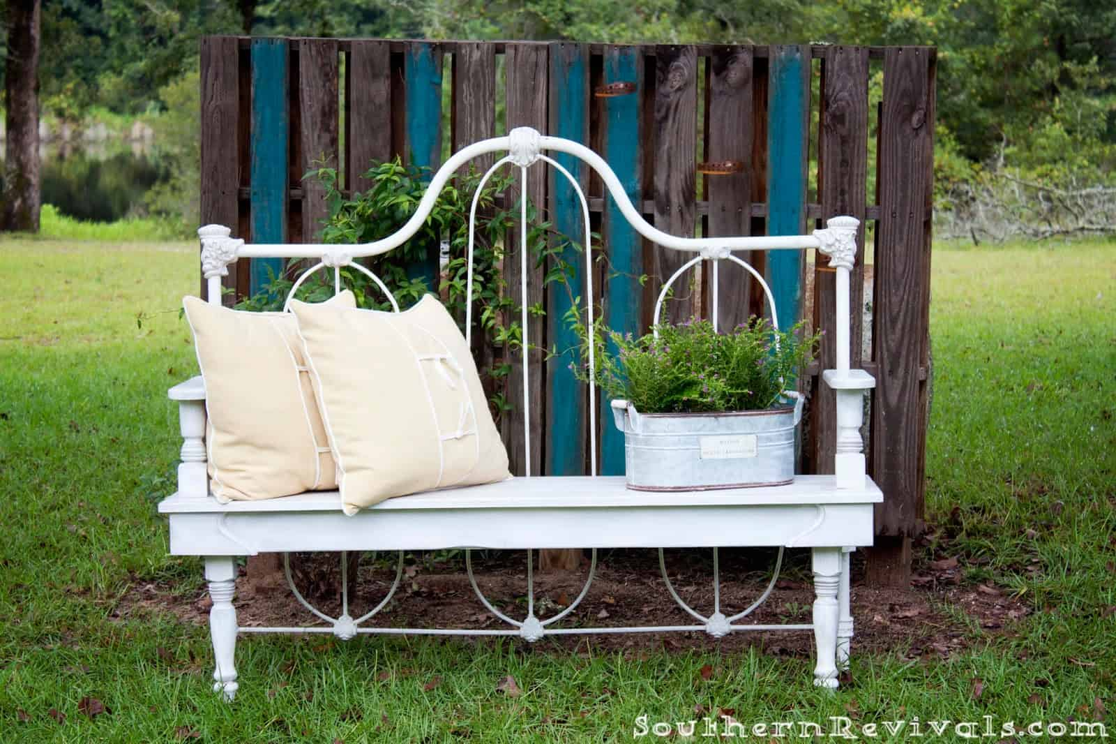 Repurposed Metal Headboard