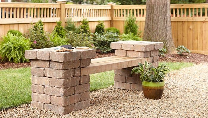 Patio Block Bench