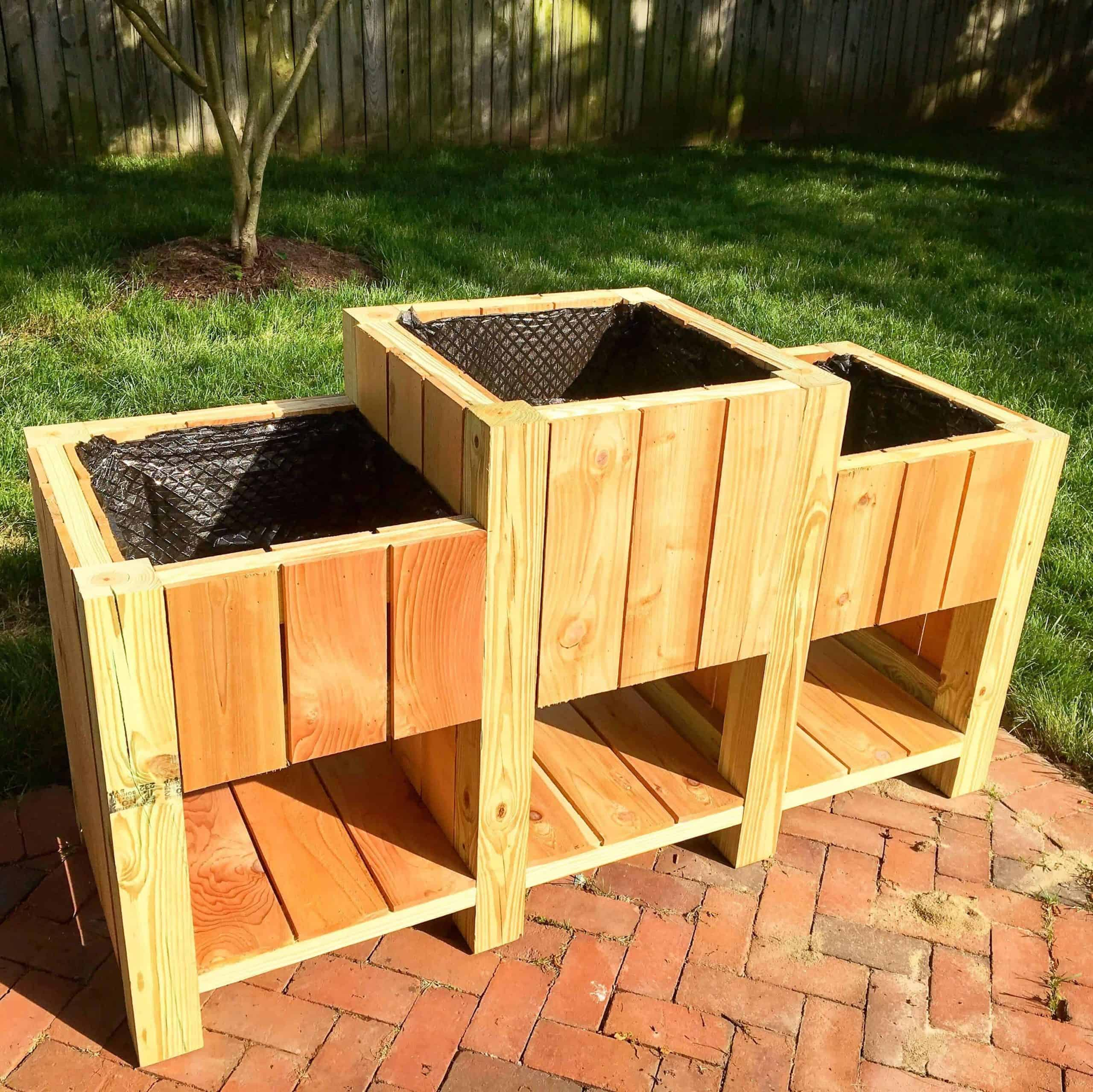 Raised Planter Trio