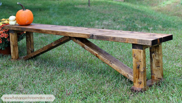 Easy Rustic Bench