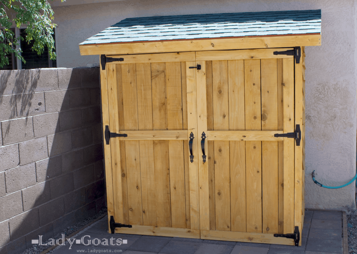Cedar Double-Door Wood Shed