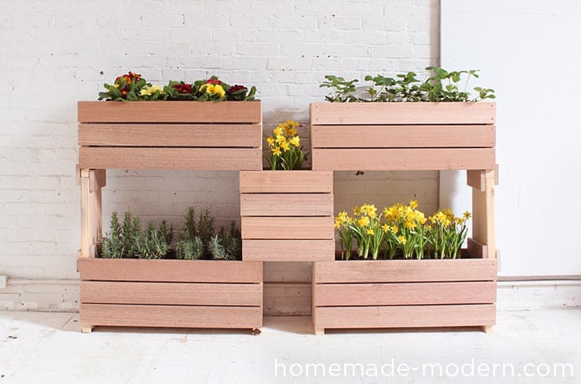 Stacked Planter Boxes